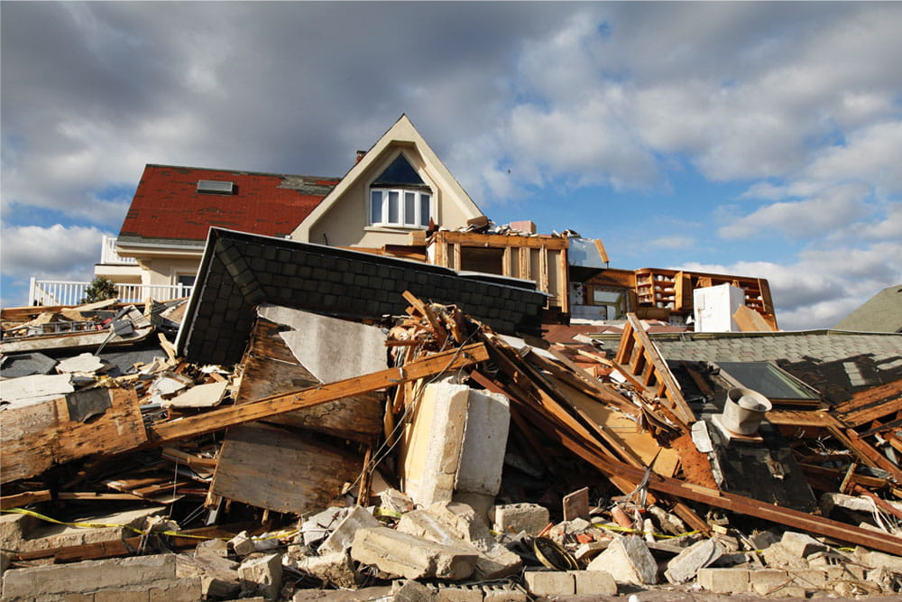 Vacation home storm hurricane damage insurance claim
