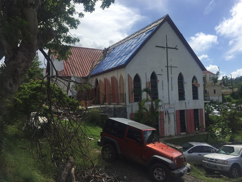 Church roof damage in hurricane public adjuster helped insurance settlement