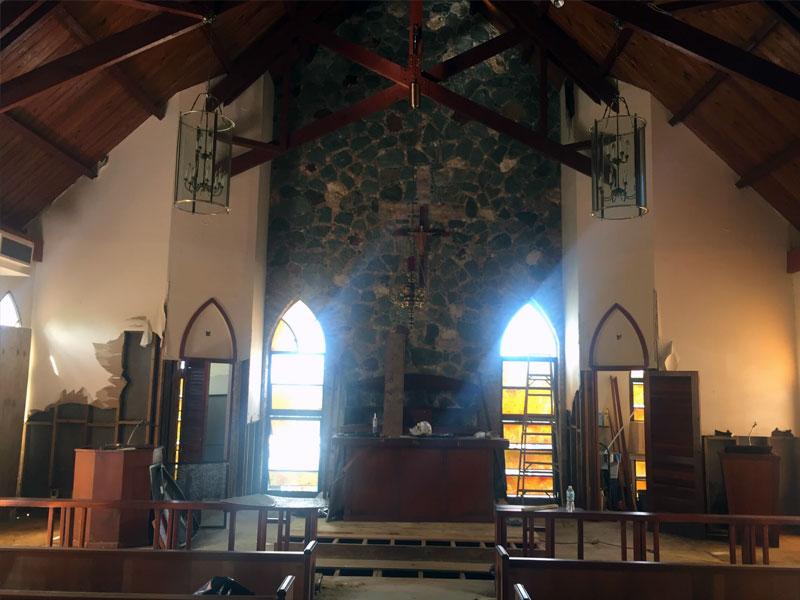 Church hurricane damage insurance company settlement