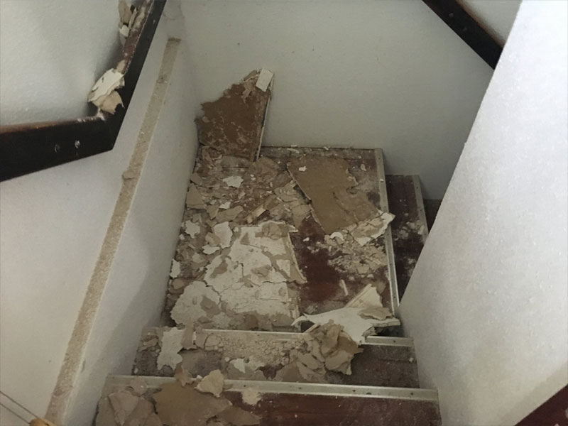 drywall damaged insurance company claim