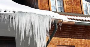 Winter Storm and Ice Damage. Insurance Claim